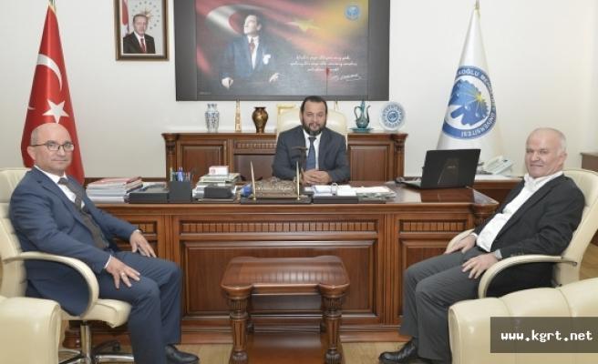 Gaziosmanpaşa Üniversitesi Rektöründen KMÜ Rektörü Akgül'e Nezaket Ziyareti