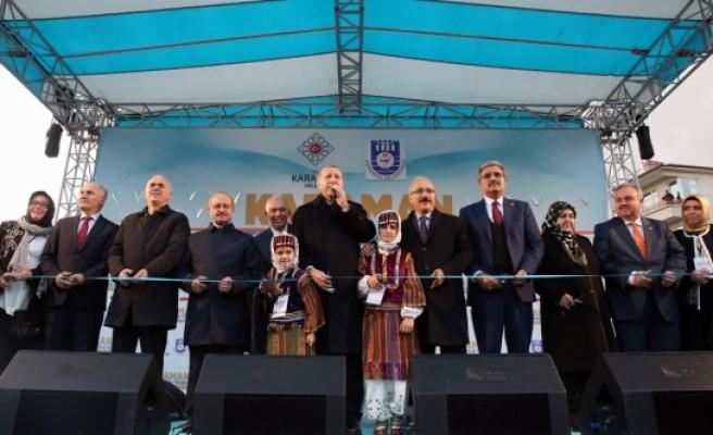 Cumhurbaşkanı Erdoğan Karaman'da Toplu Açılış Törenine Katıldı