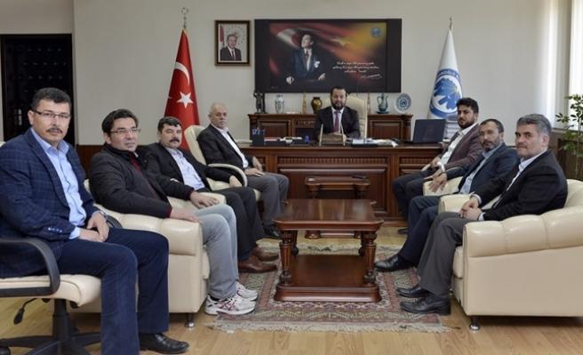 Eğtim Bir-Sen'den Rektör Akgül'e Ziyaret