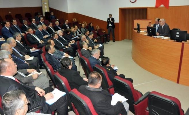 İl İdare Şube Başkanları Vali Meral Başkanlığında Toplandı