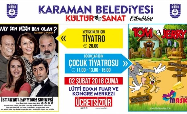 Karaman Belediyesi'nden İki Güzel Tiyatro Etkinliği Daha