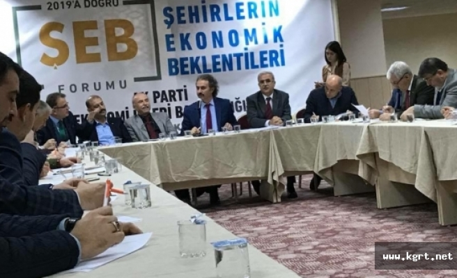 Şehirlerin Ekonomik Durumu Forumu Yapıldı