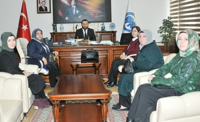 AK Parti Kadın Kollarından Rektör Akgül'e Ziyaret