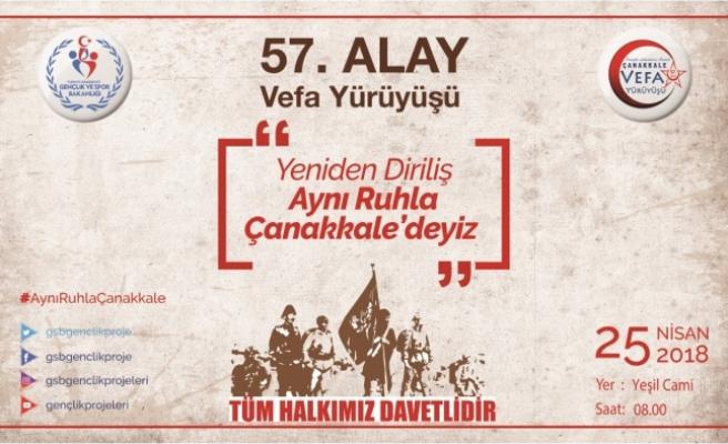 """Karaman'da """"57. Alaya Vefa Yürüyüşü"""""""