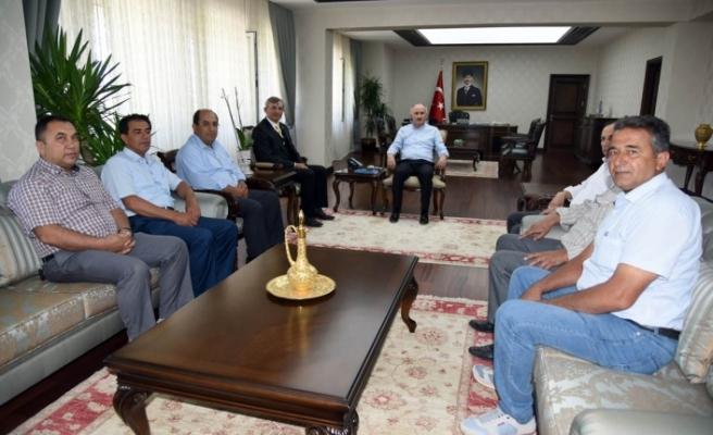 Şoförler Ve İnşaat Mühendisleri Odaları Yeni Yönetimleri Vali Meral'i Ziyaret Etti