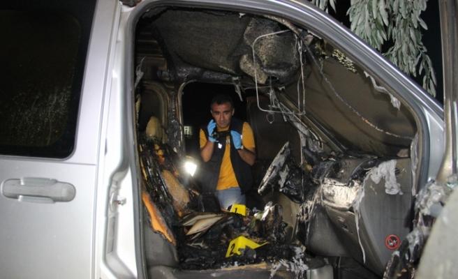 Hasta Abisi İçin Geldiği Karaman'da Aracı Kundaklandı