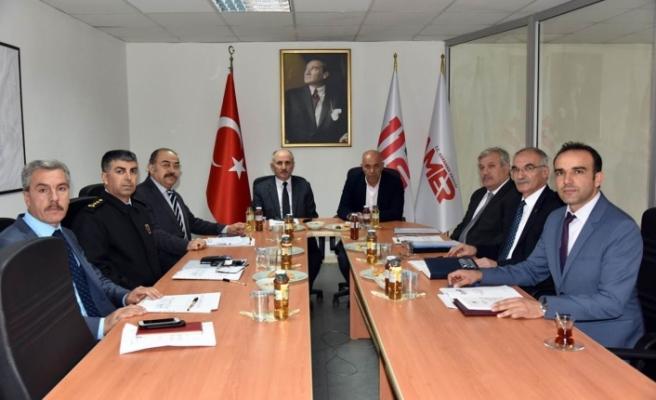 İl Güvenlik Ve Acil Durumlar Koordinasyon Merkezi Toplandı