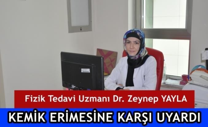 Fizik Tedavi Uzmanı Dr. Zeynep Yayla Kemik Erimesine Karşı Uyardı
