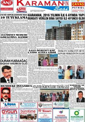 www.kgrt.net - 24.08.2016 Manşeti