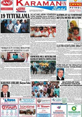 www.kgrt.net - 29.08.2016 Manşeti