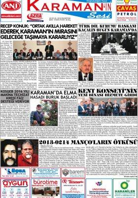 www.kgrt.net - 26.09.2016 Manşeti