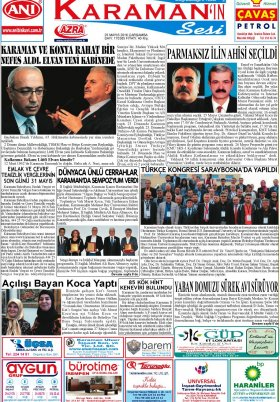 www.kgrt.net - 25.05.2016 Manşeti