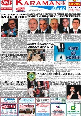 www.kgrt.net - 23.07.2016 Manşeti