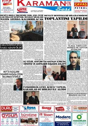 www.kgrt.net - 22.11.2017 Manşeti