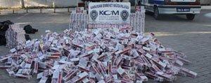 Kaçak Sigara Operasyonunda 14 Bin 989 Paket Sigara Ele Geçirildi