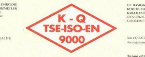 Il Sosyal Hizmetler Müdürlügü TSE-ISO-EN 9000 Kalite Yönetim Sistemi Belgesi Aldi
