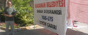 Sabah Dershanesi, Aktekke Meydaninda Tercih Çadiri Kurdu