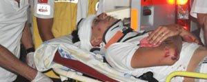 Motosiklet Sürücüsü Direksiyonun Hakimiyetini Kaybedince Kaza Yapti