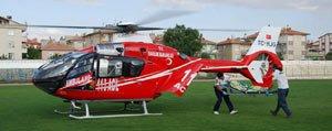 Helikopter Ambulans Osman Için Havalandi