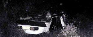 Sarampole Uçan Araçta Bulunan Bir Kisi Öldü. 3 Kisi Yaralandi