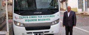 Yesildere Belediyesi Yeni Otobüsünü Teslim Aldi