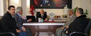 Imam Hatip Lisesi Müdürü ve Okul Aile Birligi`nden Il Genel Meclisi`ne Ziyaret