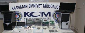 Karaman`da Dolandiricilik Operasyonu
