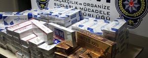 Bin 320 Paket Kaçak Sigara Ele Geçirildi