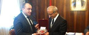 Acara Özerk Cumhuriyeti Hükümeti Baskani Habadze'den Lütfi Elvan'a Ziyaret
