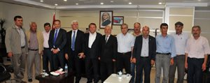 Karaman Heyeti, Mut Belediye Baskani Orhan'i Ziyaret Etti