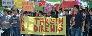 Taksim Gezi Parki Karaman'da Da Protesto Edildi