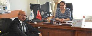 Baskan Samur'dan Ilçe Nüfus Müdürü Ertem'e Ziyaret