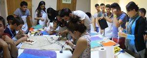Karaman Gençlik Merkezinde Keçe'den Sanata Projesi