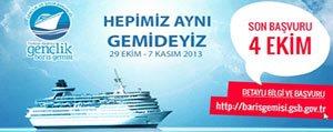 Türkiye-Akdeniz Gençlik Baris Gemisi Basvurulari Basladi