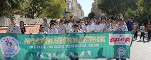 Amatör Spor Haftasi Yürüyüsü Gerçeklestirildi