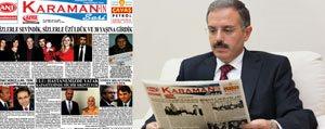 Rektör Sabri Gökmen'den Karaman'in Sesi Gazetesine Tebrik