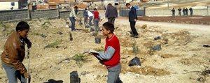 Köy Okulu Bahçesine Elbirligiyle 500 Fidan Diktiler