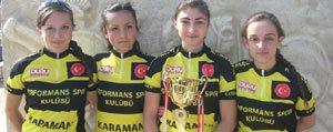 Performans Spor Kulübü Bayan Bisiklette Türkiye 2. Oldu