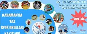 Yaz Spor Okullari Basliyor