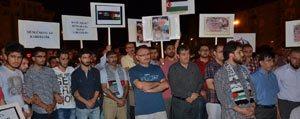 Karaman`da Gazze Saldirilari Protesto Edildi