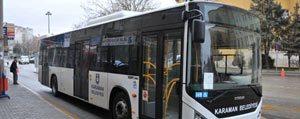 Karaman`da Belediye Otobüsleri Bayramda Ücretsiz