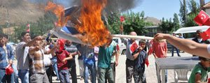 Sariveliler'de Israil Protestosu