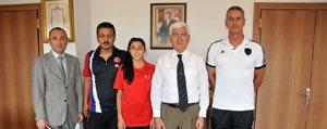 Dünya Üçüncüsü Sporcudan Vali Koca'ya Ziyaret