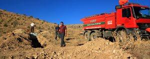 Karaman'da Keklikler Için Daglara Su Pinarlari Yapildi
