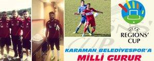 Karaman Belediye Spor`a Milli Gurur