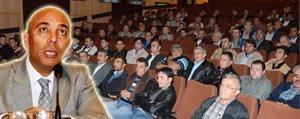 Karaman`da Yolcu Tasiyan Sürücüler Bilgilendirildi