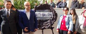 CHP'den Karaman Adliyesi'ne Siyah Çelenk