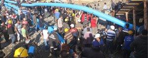 20 Isçinin Mahsur Kaldigi Maden Ocaginda Su Tahliye Çalismasi Baslatildi