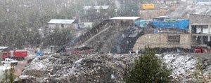 Ermenek`te Maden Bölgesine Kar Yagdi