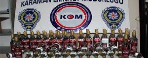 Karaman'da Kaçak 60 Sise Içki Ele Geçirildi